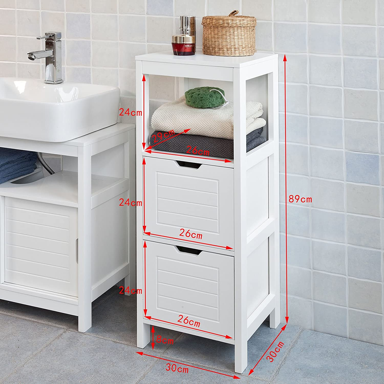 SoBuy FRG127 W Badkommode Badschrank Kommode Badezimmer Weiß: Amazon.de:  Küche U0026 Haushalt