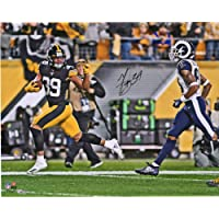"""$67 » Minkah Fitzpatrick Pittsburgh Steelers Autographed 16"""" x 20"""" Fumble Recovery Wave Photograph - Fanatics Authentic Certified"""