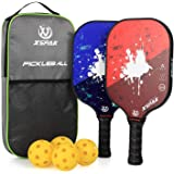 XS XSPAK Pickleball Paddles Set, Lightweight Graphite Paddles Sets of 2 Including Bag and 4 Indoor Balls, USAPA Approved