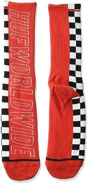 HUF Hombre 27940 Calcetines - Rojo - talla única