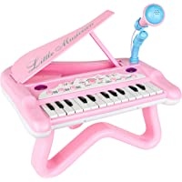 ToyVelt Toy Piano for Toddler Girls – Cute Piano for Kids with Built-in Microphone & Music Modes - Best Birthday Gifts…