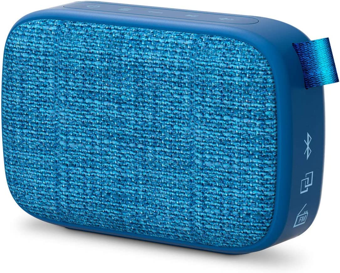 Energy Sistem Fabric Box 1+ Pocket Blueberry Altavoz portátil con Bluetooth (TWS, Bluetooth v5.0, 3W, USB&microSD MP3 Player, FM Radio)