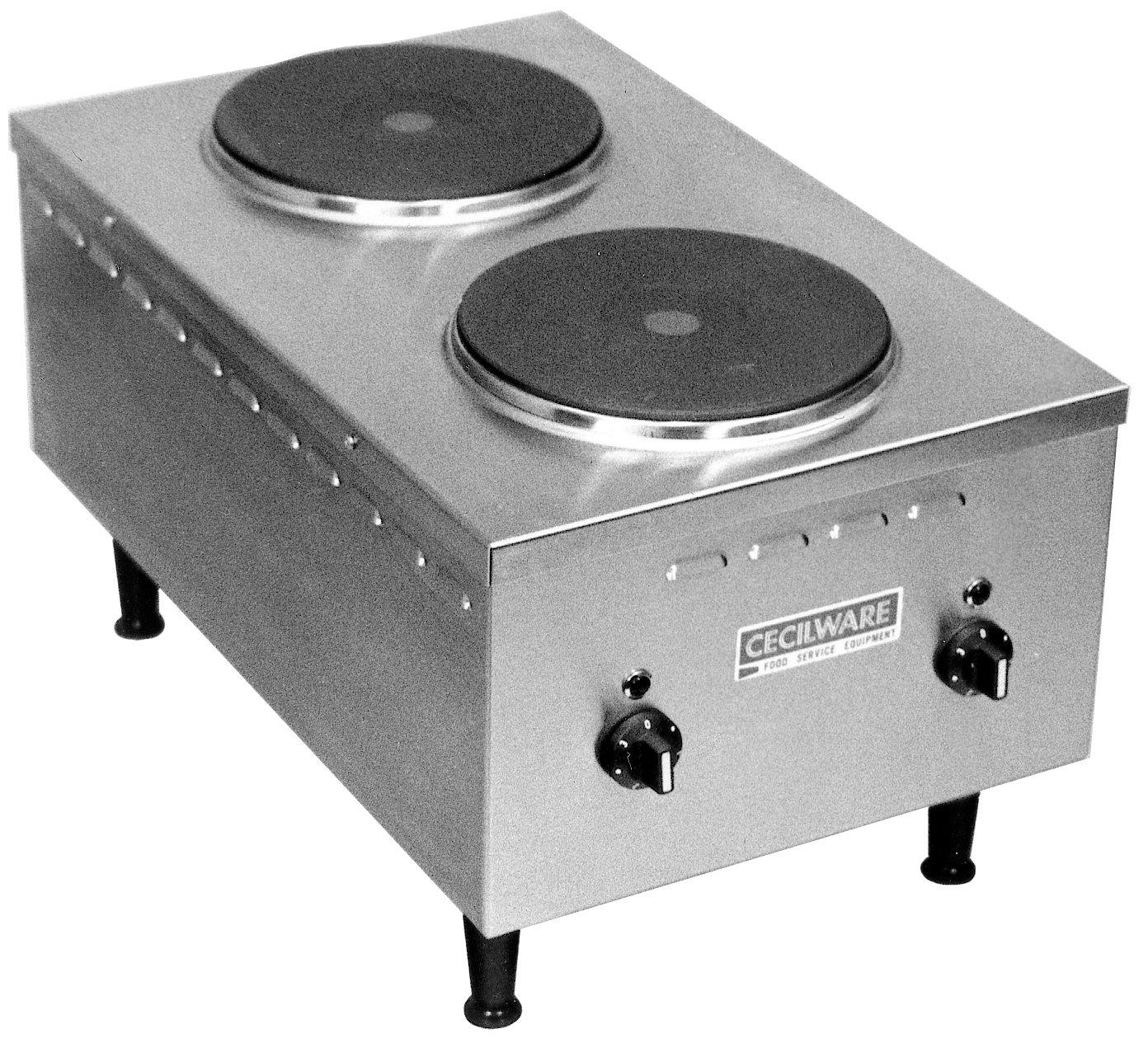 Grindmaster-Cecilware EL24SH Electric Stainless Steel Short Order Stove, Nema Plug 6-30R