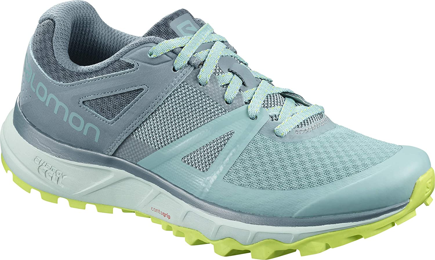 Salomon Women s Trailster Trail Running Shoes, Nile Blue Bluestone Acid Lime, 7 US
