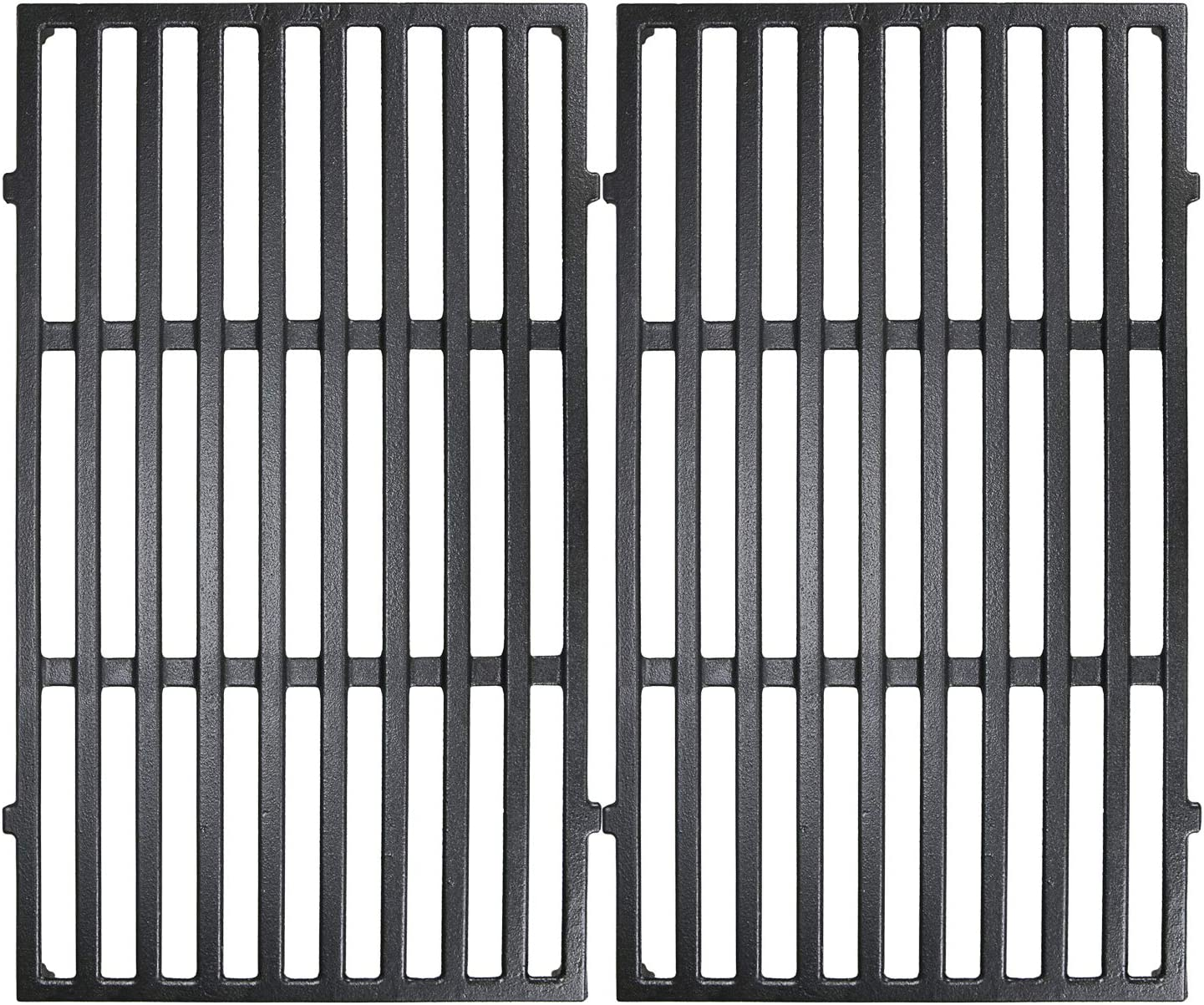 Utheer 7637 Cast Iron Cooking Grid Grate 17.5 x 10.2 Inch for Weber 46010074 Spirit 200 E210 S210 Series Gas Grills, Grill Replacement Parts for Weber 7637 Gas Grills with Front-Mounted Control Panels