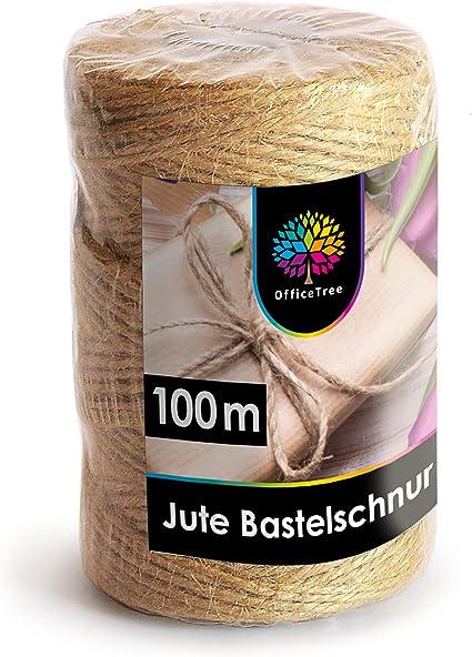 100 m 2-3 mm Jute Ficelle Cordon Paquet ficelle Bastelschnur DECO Jutegarn-vert