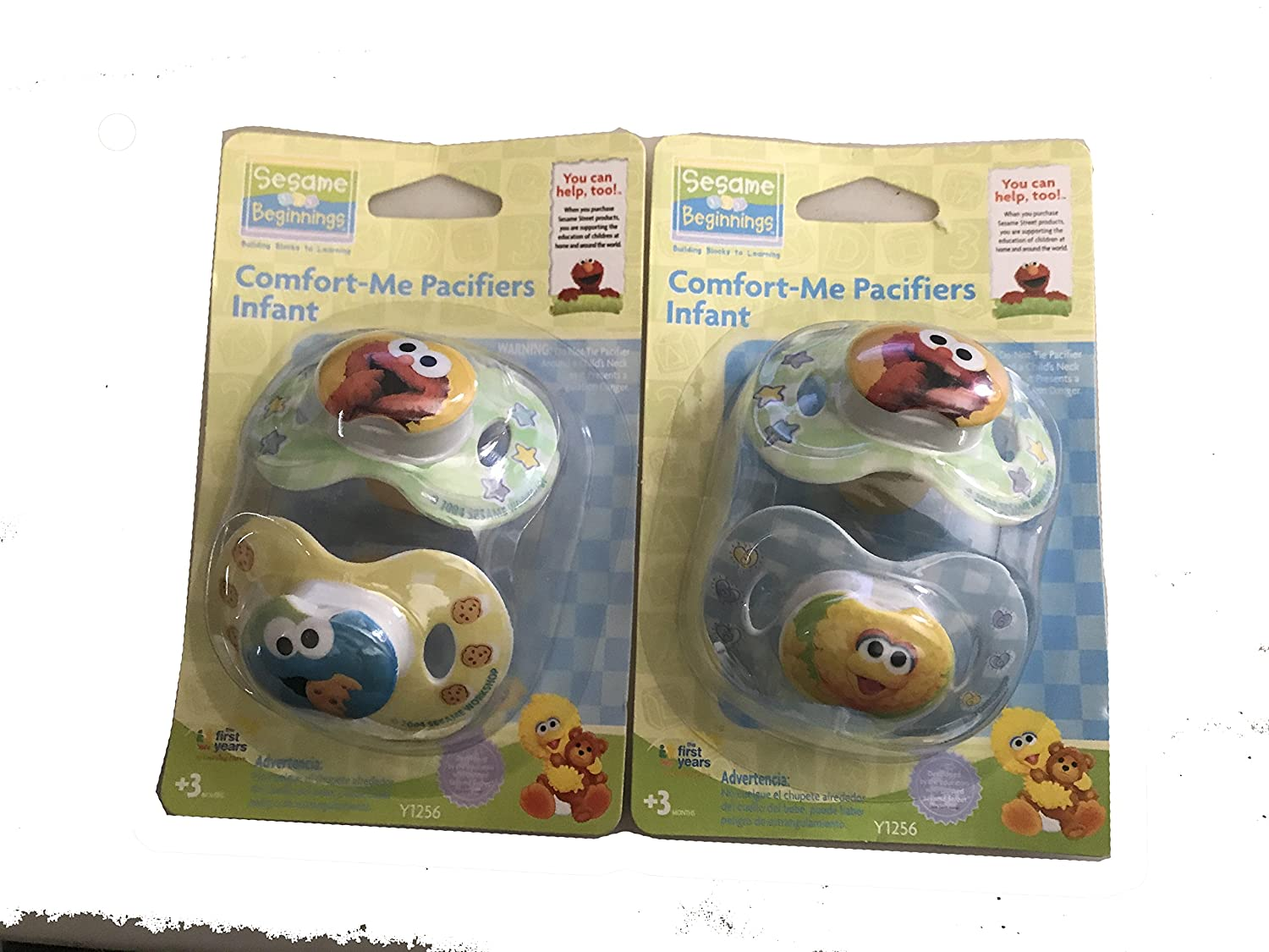 Amazon.com : 2 pcs of emo Pacifiers, 1 pc cookie monster ...
