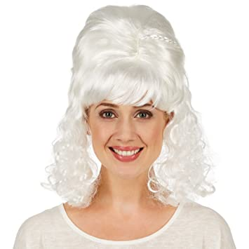 dressforfun Peluca de Señora Barroca para Mujer | La Peluca Completa Perfectamente su Disfraz Barroco para