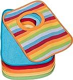 BIECO Paquete de 6 baberos babero bebé forrada con plástico, multicolor