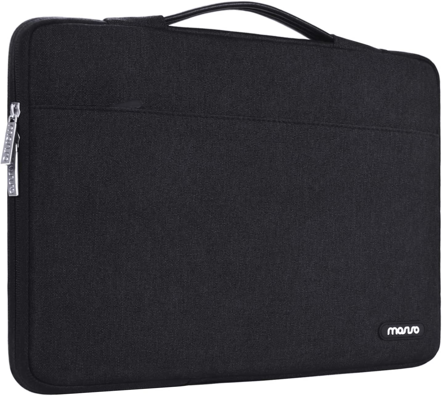 MOSISO Laptop Sleeve 360 Protective Case Bag Compatible with 2018-2020 MacBook Air 13 inch A2179 A1932, 13 inch MacBook Pro A2289 A2159 A1989 A1706 A1708, Polyester Briefcase with Trolley Belt, Black