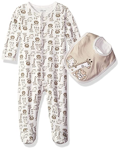 a0feaa410 Amazon.com: Little Me Boys' Footie and Bib Set, Safari: Infant And ...