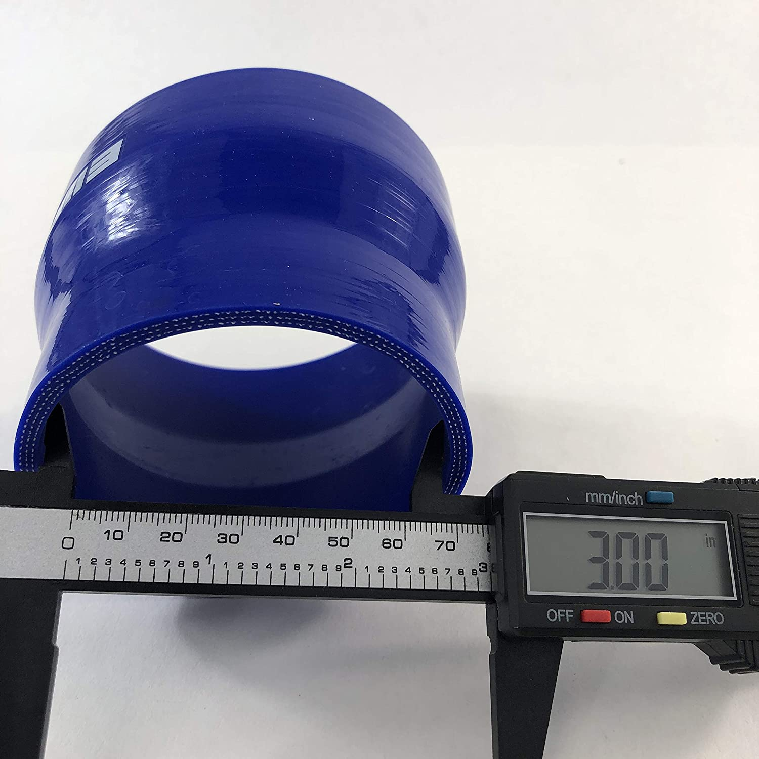 3 to 3.5 Blue Straight Silicone hose Coupler 4 layer polyester