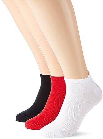 Tommy Hilfiger TH Men Sneaker 3P Promo, Calcetines para Hombre, Mehrfarbig (apple red/navy 486) 43-46 Pack de 3: Amazon.es: Ropa y accesorios