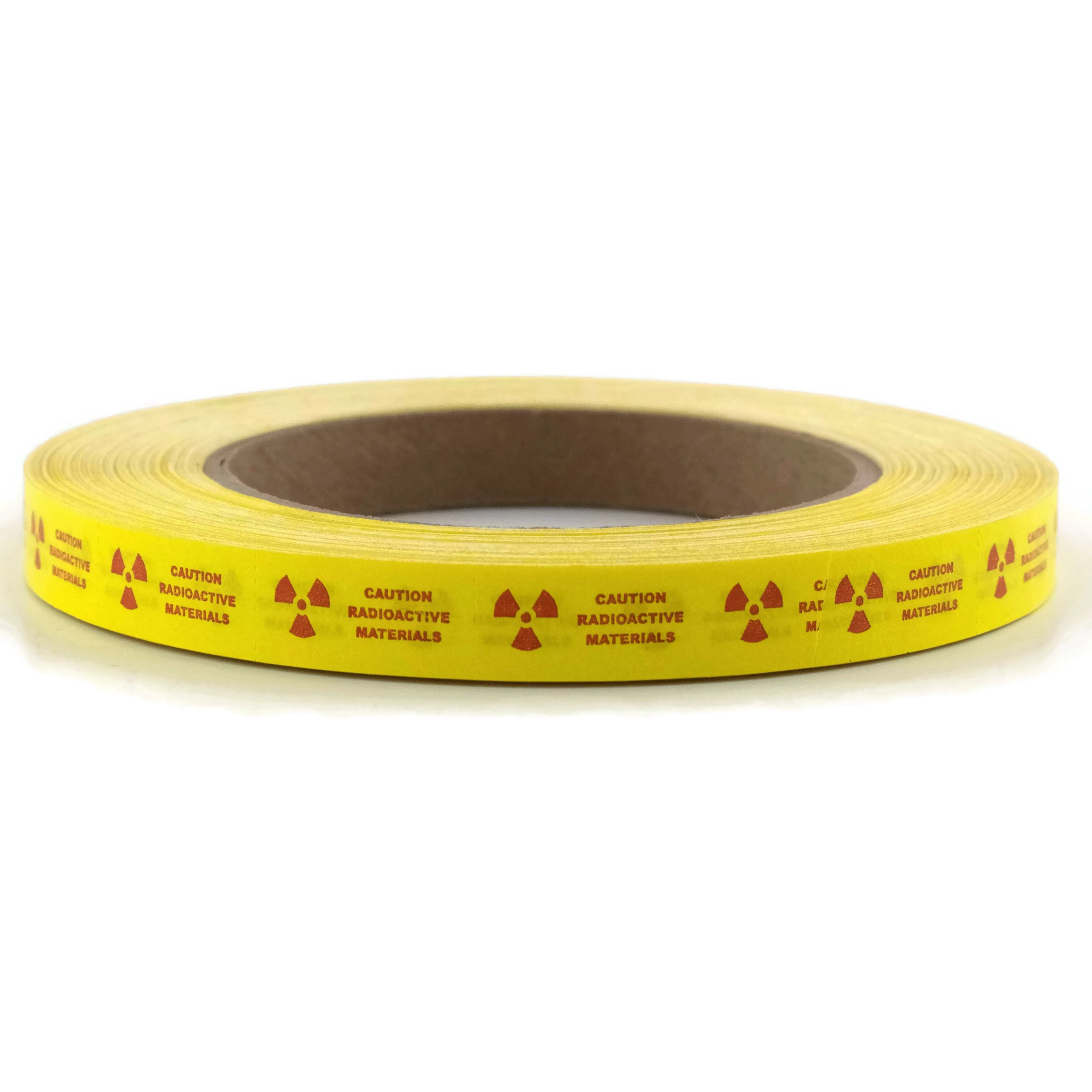 RPI Perforated Caution Radioactive Material Safety Mark-It Tape, 1 x 1/2 Inches Adhesive Labels, 180 Foot Roll
