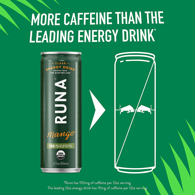 Runa Zero Energía Orgánica Limpia Bebida de la Hoja de ...