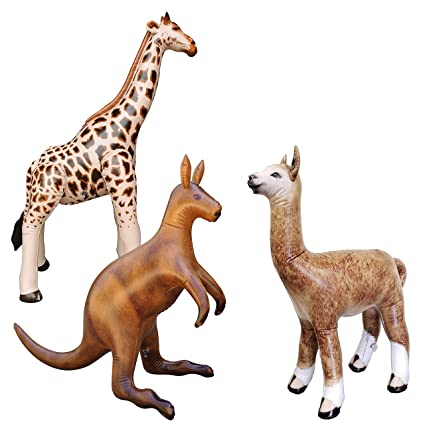 Amazon.com: Jet Creations – Jirafa inflable Kangaroo Alpaca3 ...
