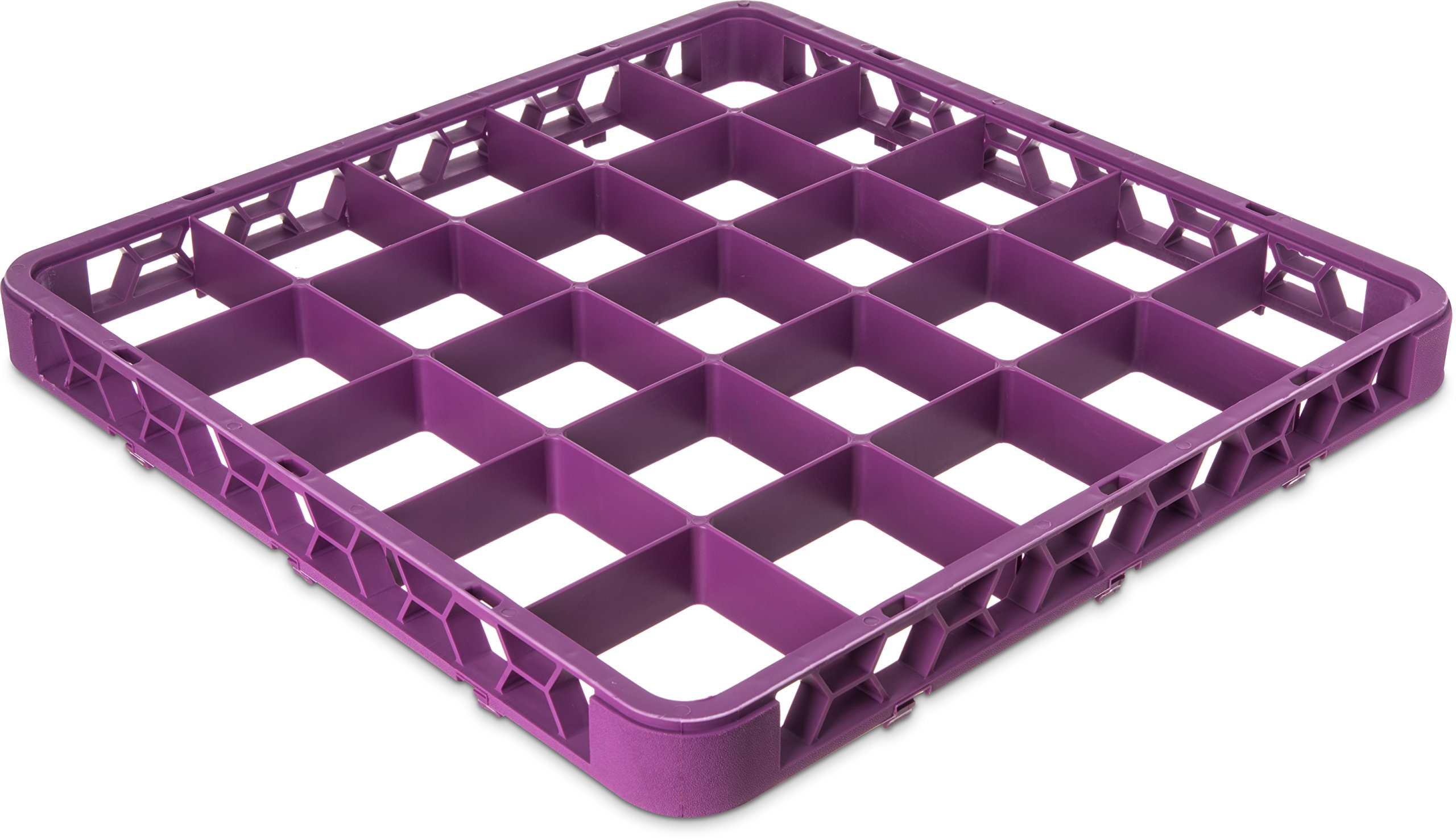 Carlisle RE25C89 OptiClean 25 Compartment Cup Rack Extender, 3-1/2'' Compartments, Lavender (Pack of 6)