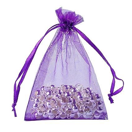 444a71003ef3 Amazon.com: Housweety Organza Gift Bags Wedding Christmas Favor Dark ...