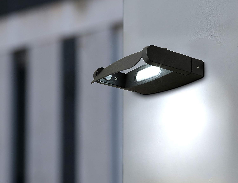 Fiduciashop - Eco Light Außenwandleuchte (LED-Spot, anthrazit, Aluminium, 9 W, 5 x 19 x 18 cm, A+) für nur 13,99€ inkl. Versand