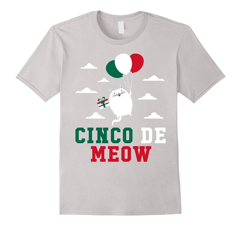 Cinco De Meow Cat - Cinco De Mayo May Fifth T-Shirt-CD