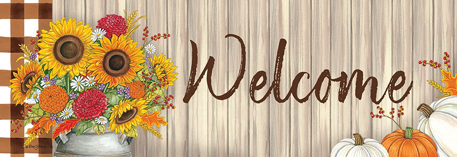 Custom Decor Sunflower Milk Can - Signature Sign - 5 inch x 15 inch PVC Sign Licensed, Trademarked, Copyright by CDI. Made in The USA