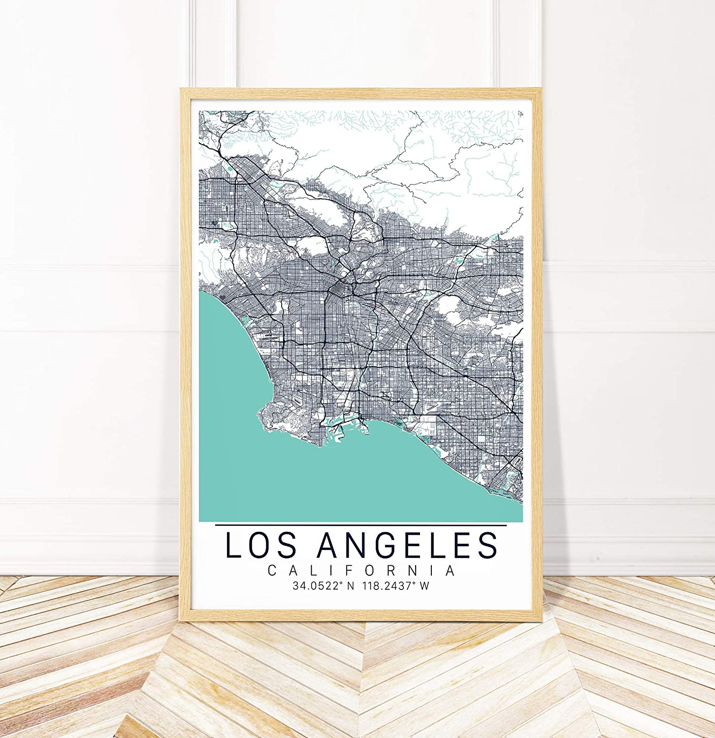 Amazon.com: Los Angeles Map City Art- Map of LA with ... on city of kenner map, city of lone tree map, city of redwood city map, city of norco map, city of san buenaventura map, city of alabama map, city of joshua tree map, city of yuba city map, city of las vegas area map, city of louisiana map, city of youngstown map, city of lexington map, city of wisconsin map, city of alamo heights map, city of arizona state, city of oak park map, city of plant city map, city of oklahoma map, city md map, city of brooklyn map,