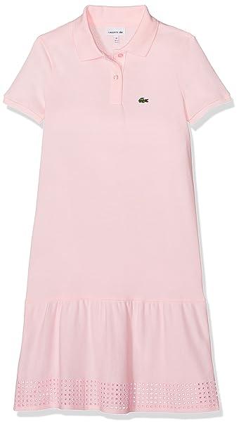 Lacoste EJ2796, Vestido para Niñas, Rosa (Flamant), 3 años (Talla