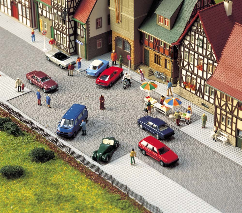 Busch 6032 Old town square HO Scenery Scale Model Scenery MODELS11 INC