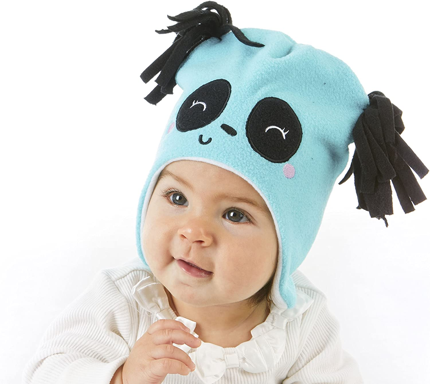 S.W.A.K Infant Girls Hat /& Mittens Set