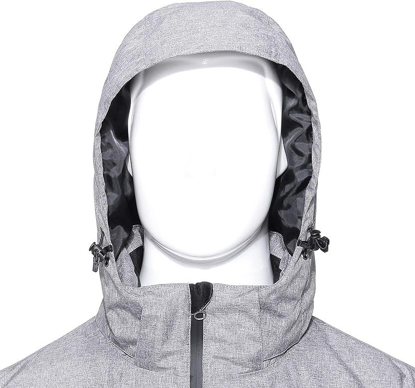 Valoda Men Zipper Casual Outwear Thermal Thicken Winter Hoodie Padded Jacket