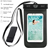 Taslar(TM) Waterproof Armband, Built-in Compass,Bag universal upto 5.5 inch for Moto G4 Plus, Meizu M3 Note, Zuk Z1, Redmi Note 3, iPhone 6 Plus/6/6s/5s/5c/SE,Samsung Galaxy S7/S6/EDGE/S5/S4/NOTE 4/3/2, Leeco Le 2, Huawei Honor 5X, Lenovo Vibe K5, Mi 5, Vibe K5 Note, Oneplus 3/3T, Coolpad Note 3, Redmi 3S Prime, Xperia Xa Dual, iPhone 7, iPhone 7 Plus, Coolpad Note 5, Moto G4 Play, Moto Z for Boating/Hiking/Swimming/Diving [Black]