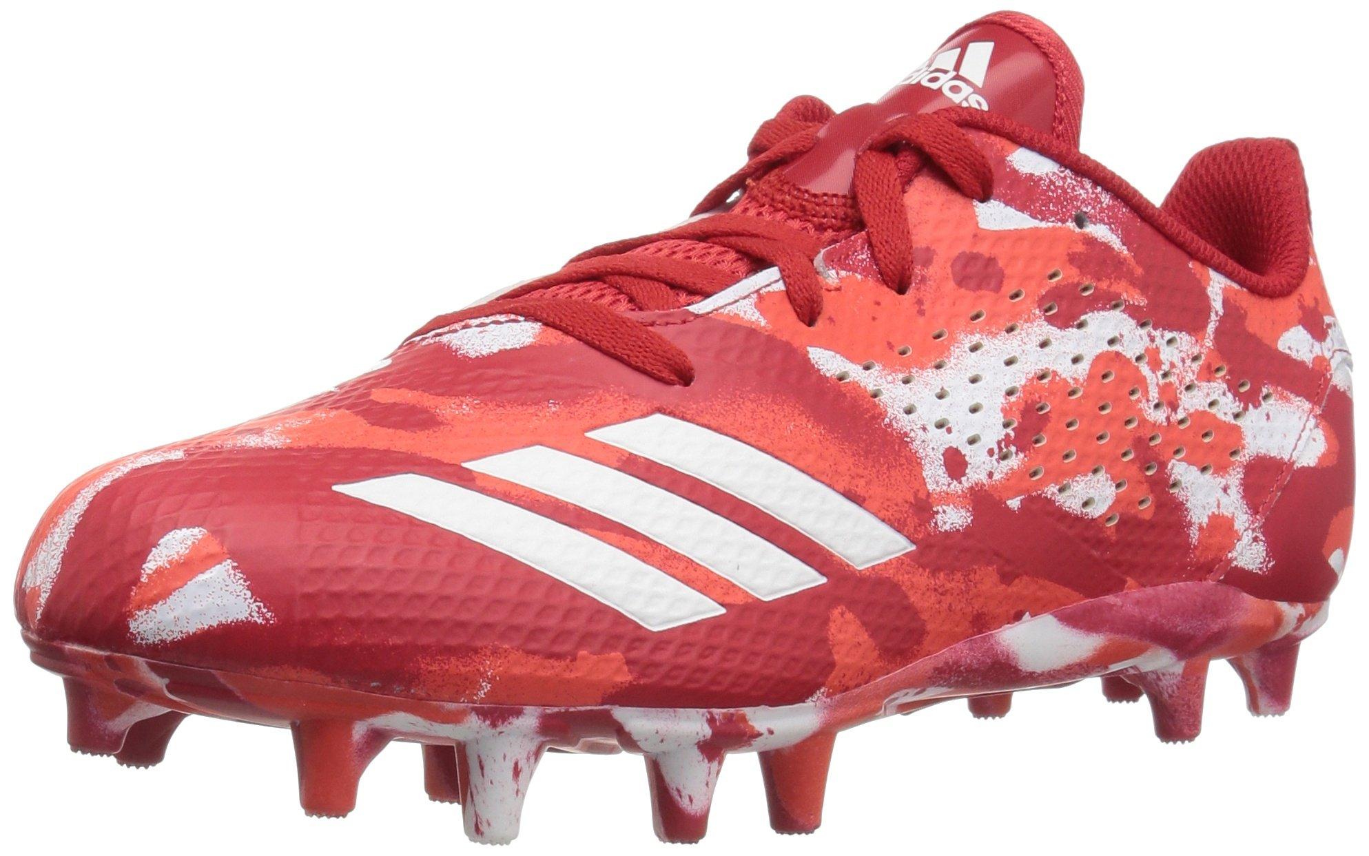 adidas Unisex Adizero 5-Star 7.0 Football Shoe, White/hi-res red/Scarlet, 1 M US Little Kid