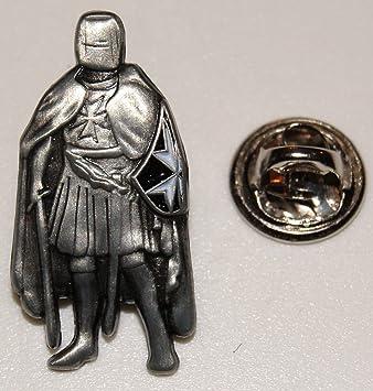 Templer Kreuzritter gekreuzte Schwerter auf Schild l Anstecker l Abzeic l Pin 164