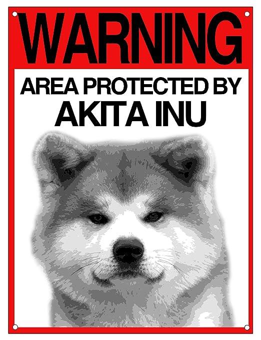Lovelytiles Akita Negro matrícula Cuidado con el Perro Cartel ...