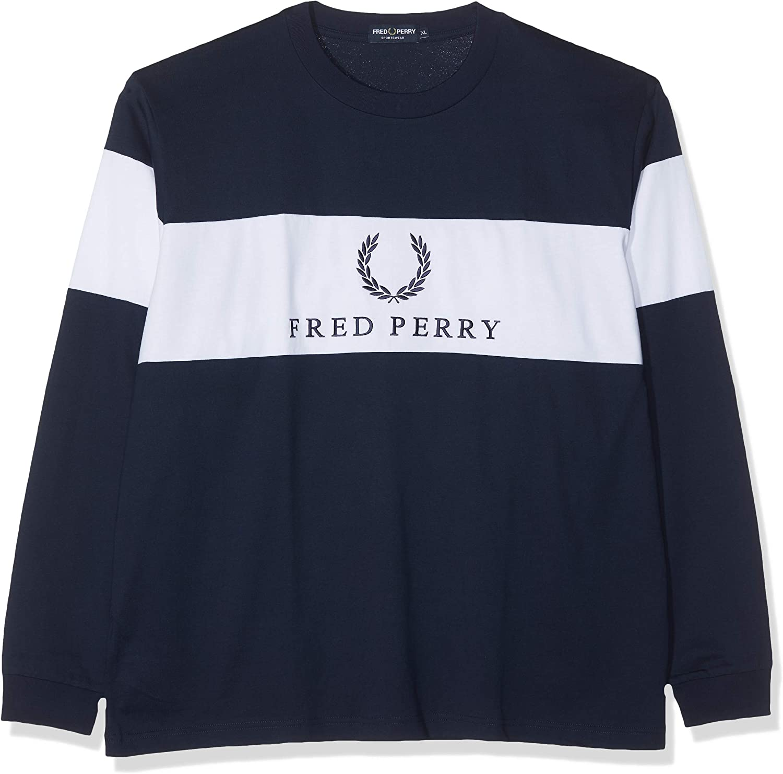 Fred Perry M5510-CONTRAST Panel T-SHIRT-100-XL Camiseta de ...