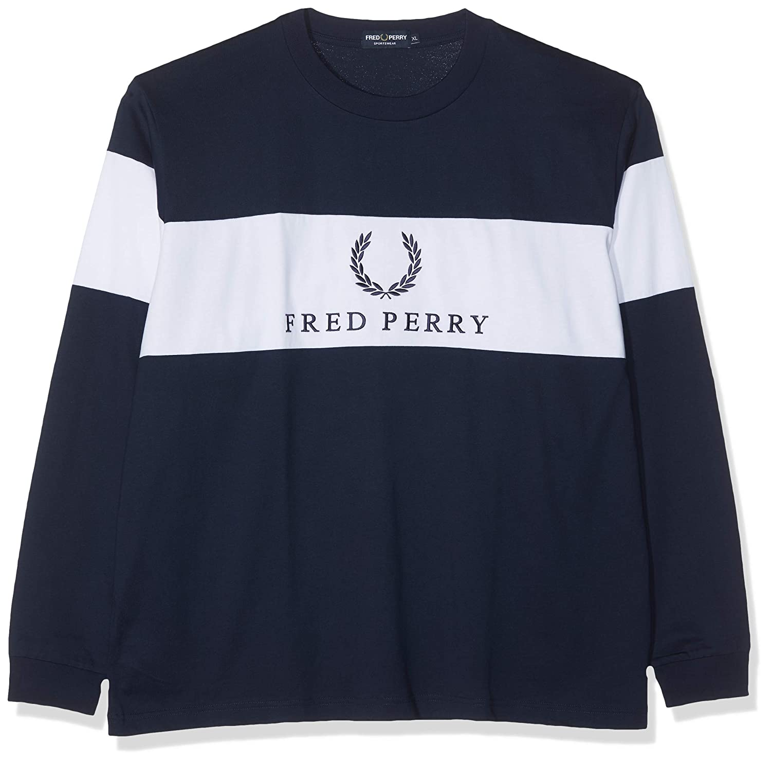 Fred Perry M5510-CONTRAST Panel T-SHIRT-100-XL Camiseta de Manga ...