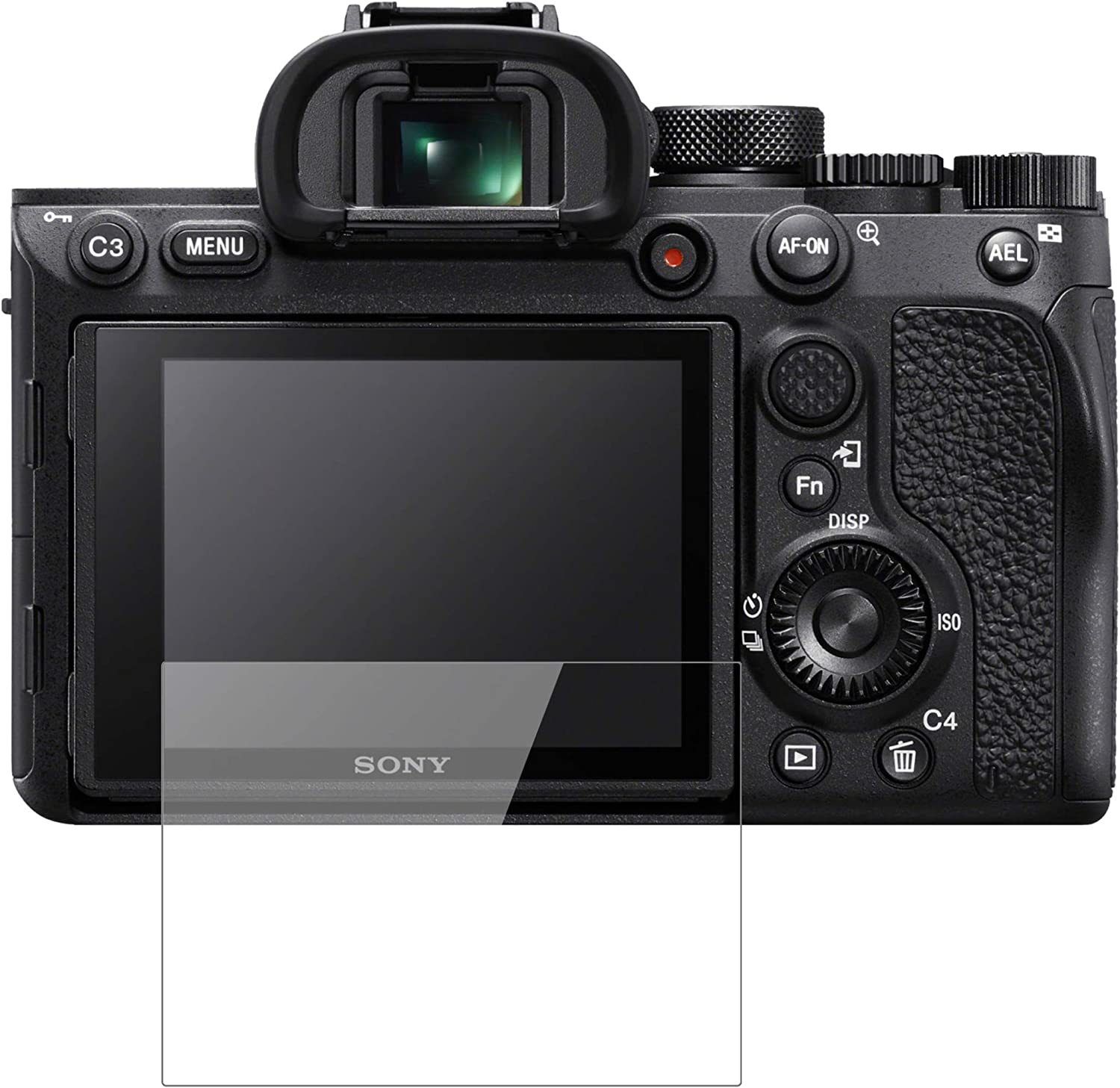 dipos I 2x Screen Protector compatible with Sony A7R IV Flexible Glass 9H Display Protection