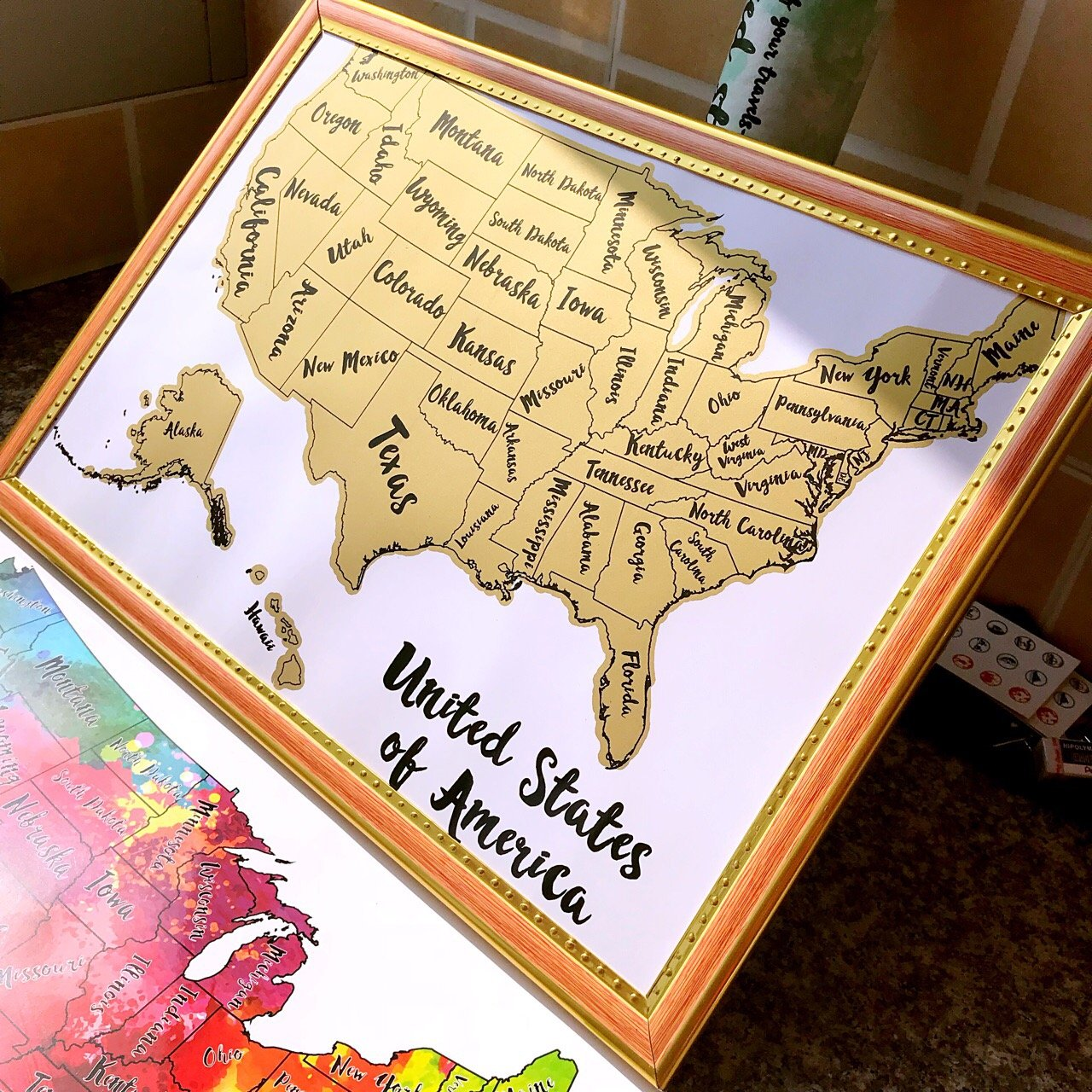 BeLoved Scratch off Map of the USA. Travel Map New Design. Modern ...