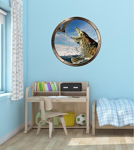 dise/ño de oso polar y ojo de buey Adhesivo decorativo para pared