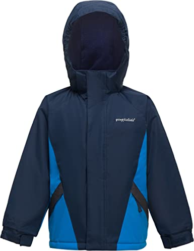 YINGJIELIDE Kids Snow Jacket Sports Winter Jacket Protective Outdoor Snow Jacket for Boys and Girls with Zip Pocket and Lightweight Warm Padding