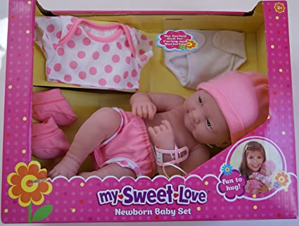 Amazon Com My Sweet Love Newborn Baby Set 14 Baby Doll Toys Games