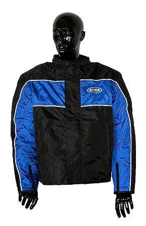KED Soar - Chaqueta de moto scooter Rookie Black Blue, mate ...
