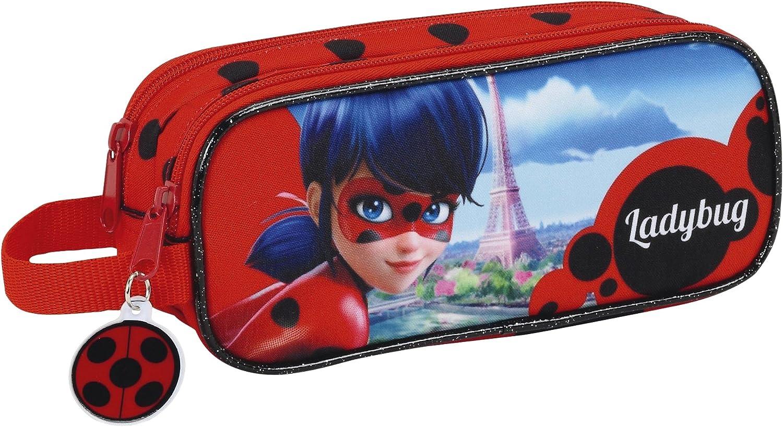 Safta Estuche Lady Bug Oficial Escolar 210x60x80mm: Amazon.es: Juguetes y juegos
