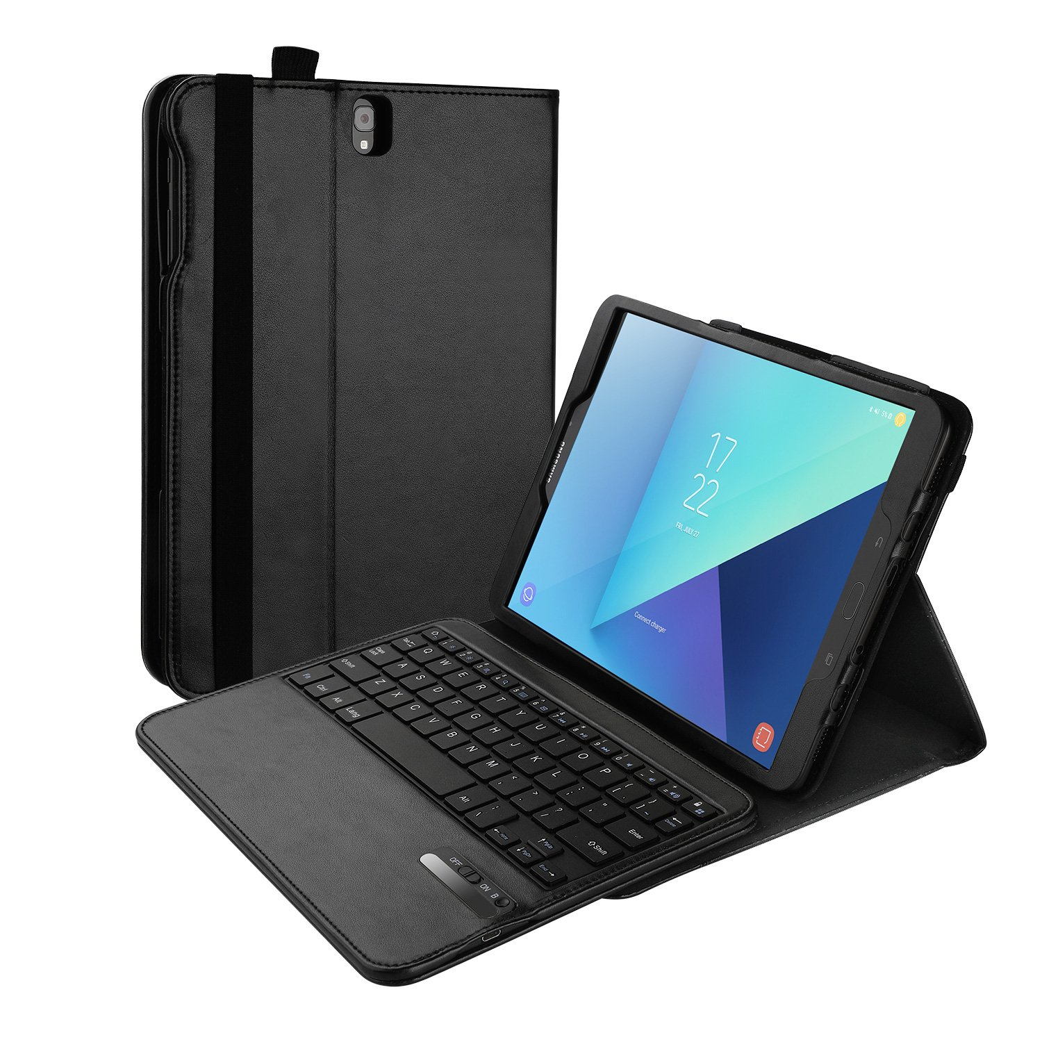 Vivefox Samsung Galaxy Tab S2 9.7 / S3 9.7 Keyboard Case, Detachable Wireless Keyboard Stand Case/Cover for Galaxy Tab S2 9.7 Tablet / S3 9.7 Inch Tablet, with Auto Sleep/Wake, Pen Holder, Black
