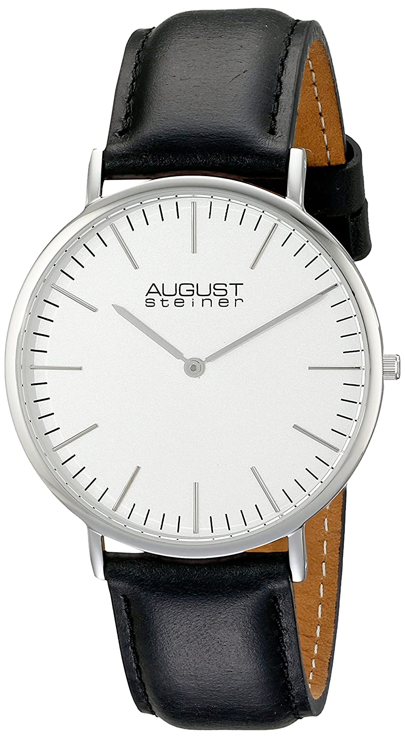 August Steiner Herren-Armbanduhr AS8084XBK Analog Quarz