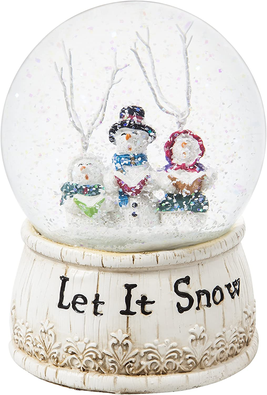 Cypress Home Beautiful Christmas Let it Snow Water Globe Table Top Décor - 4 x 6 x 4 Inches Indoor/Outdoor Decoration for Homes, Yards and Gardens