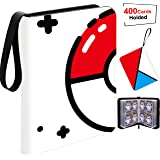 Card Binder Holder,Carrying Case Binder, Holds Up to 400 Cards - Trading Cards Collectors Album with 50 Premium 4-Pocket Page