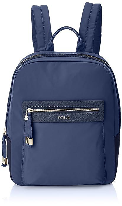 Tous 695810086, Bolso mochila para Mujer, Azul (Marino) 26x33x9.5 cm