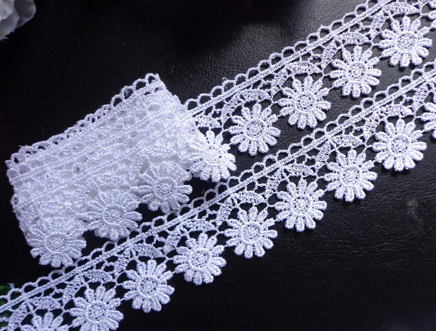 Venise Lace 3 3//4 inch wide white color  selling by the yard