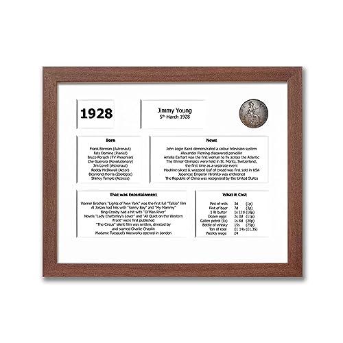 90th Birthday Framed Souvenir Of 1928 Gift Set Customisable 2018